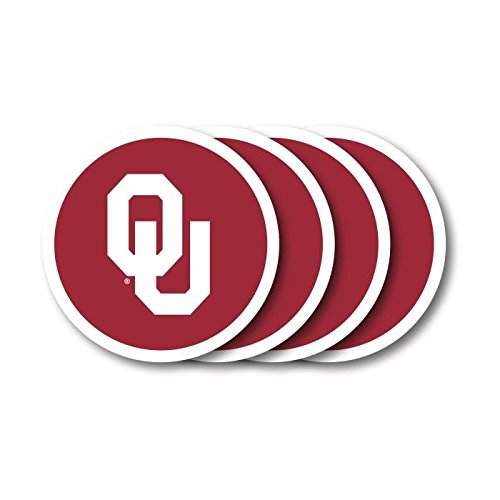 - NCAA Oklahoma Molded Vinyl Coasters | Oklahoma Sooners Beverage Coasters - Set of 4