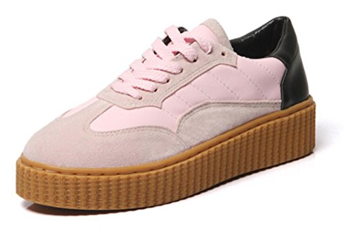 scarpe di sandali Sport svago donne delle rotonde XDGG Scarpe spessi 38 nuovo testa pink nqvPxC