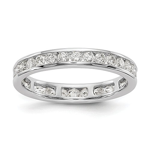 14k White Gold SI2-I1(H/I) Diamond Eternity Wedding Band Ring 0.998 cttw