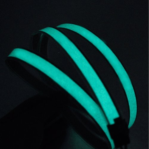 lychee Lychee3 Ft 1M 1M Neon Glowing Strobing Electroluminescent Robbin El Tape Belt EL Wire Rope With Battery Pack For Cosplay Decoration Bruning Festival (3Ft, Green)