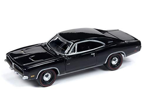 Johnny Lightning JLMC019 Muscle Car 1969 Dodge Charger VER B Black
