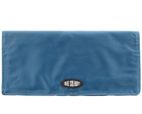 Big Skinny Women's Executive Checkbook Bi-fold Wallet Teal