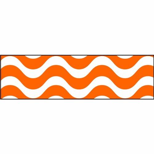 Wavy Orange Bolder Borders (Orange Wall Border)