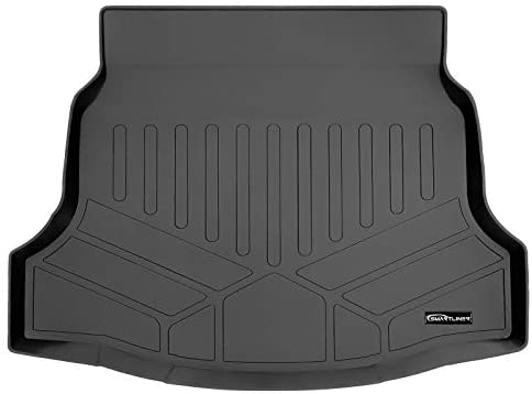 SMARTLINER All Weather Cargo Liner Floor Mat Black for 2017-2021 Honda Civic Hatchback (No Sport or Sport Touring Models)