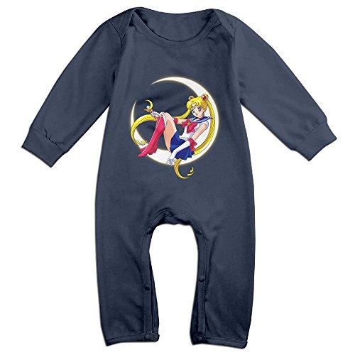 Price comparison product image Ellem Cute Sailor Moon Bodysuit For Infant Navy Size 12 Months