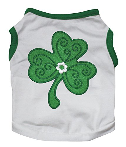 Petitebella Puppy Clothes Dog Dress St Patrick Clover Green White Tee T Shirt (XX-Large)