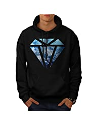Blue Diamond Sky Cloud Jewel Love Men NEW Black S-5XL Hoodie | Wellcoda