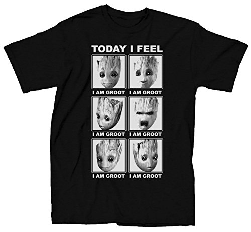 Marvel Guardians Of The Galaxy 2 Face Of Groot I Feel T-shirt (XL, Black) for $<!--$17.12-->