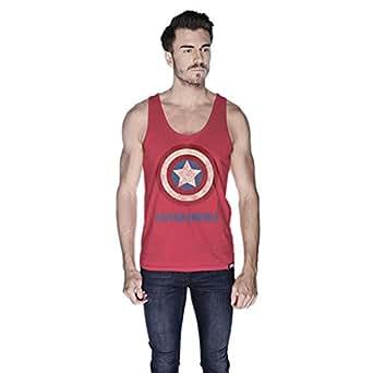 Creo Captain America Tank Top For Men - M, Pink