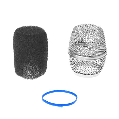 (huanban072 Head Mesh Microphone Grille Fits Mic Cover Handheld Microphone Windscreen For Shure Beta57a/ Beta87a (Beta 87A))