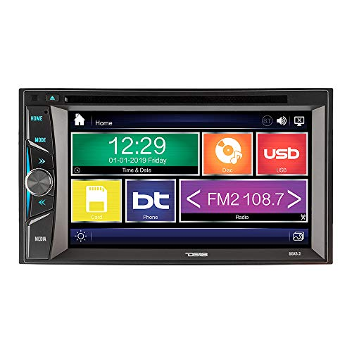 "DS18 Double-Din DDX6.2 Multimedia DVD Player - 6.2"" Touchscreen, Wireless Bluetooth Hands-Free Function, 1080p Video Display, Max 40W x 4 Channel High Output Power, Mic Included"