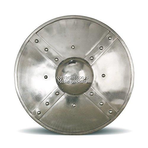 - Functional Medieval Buckler Shield Medium Size 14G Steel Combat Grade SCA LARP