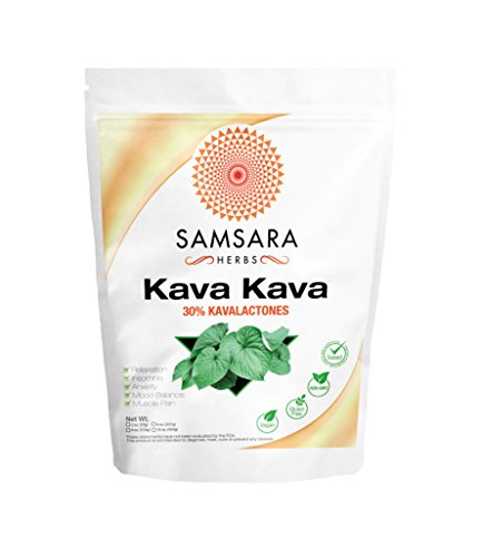 Kava Kava Extract Powder - 30% Kavalactones Extract - (2oz / 57g) PURE, NON-GMO, POTENT - Kava Root Extract
