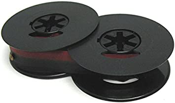 Black and Red 1 1 Solid Black + Brother 250TR Typewriter Ribbon 2 Pack -