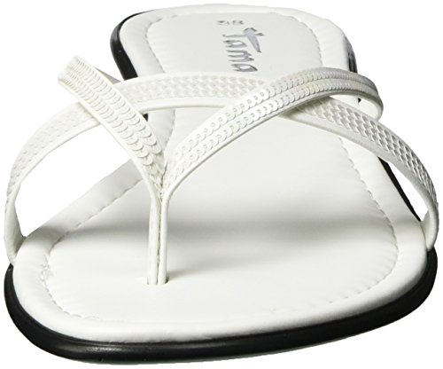 Tamaris 27107, Sandalias Planas Mujer Blanco (White 100)