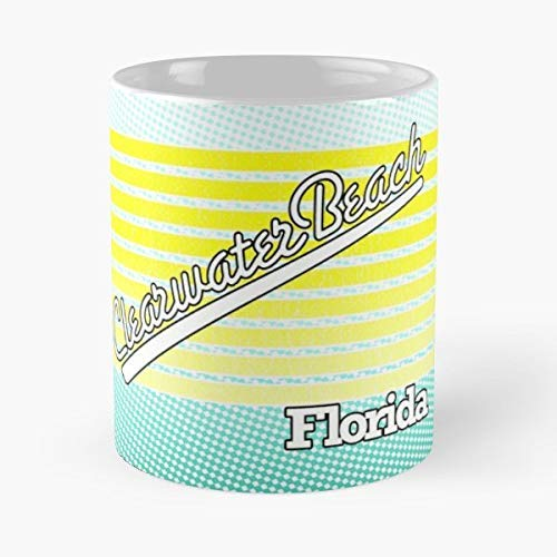 Clearwater Beach Florida Surf Spot - 11 Oz White -coffee Mug- Unique Birthday Gift-the Best Gift For -
