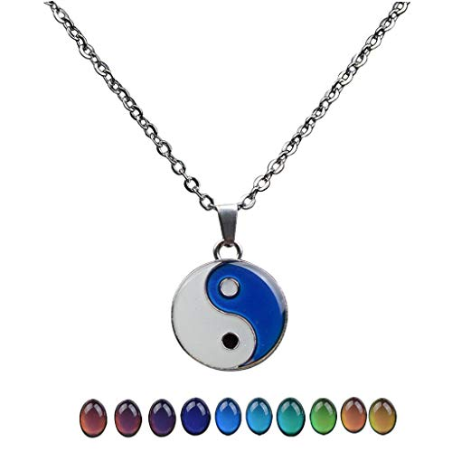 Tai Chi Gossip Shaped Color Change Mood Pendant Necklace Emotion Jewelry Necklace Jewelry Crafting Key Chain Bracelet Pendants Accessories Best
