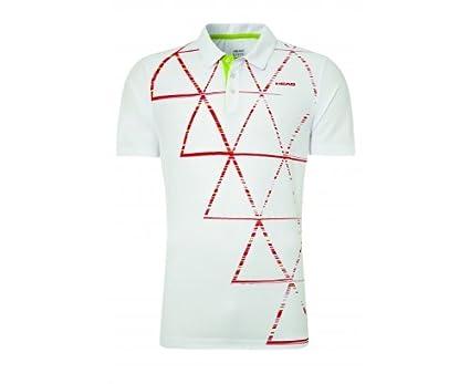 HEAD Quick Polo de Tenis Caballero, Blanco/Rojo, XL: Amazon.es ...