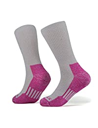 SOLAX Mens Women's Merino Wool Hiking Socks 2 Pairs Outdoor Trail Crew Socks