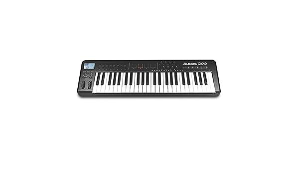 Alesis QX49 - Teclado MIDI (USB, 81,3 cm, 22,9 cm, 7,6 cm, DC, 4,5W) Negro: Amazon.es: Instrumentos musicales