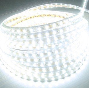 Injuicy Lighting 120VSMD5050-50M-B 165 Feet 120 Volt High Output LED SMD5050 Flexible Flat LED Strip Rope Light - [Christmas Lighting, Indoor / Outdoor rope lighting, Ceiling Light, kitchen Lighting] [Dimmable] [Ready to use] [7/16 Inch Width X 5/16 Inch