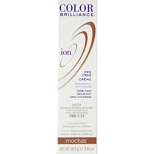 Ion Sally Beauty Color Brilliance Mochas Hair Color  7Wr Medium Gold Mahogany Blonde