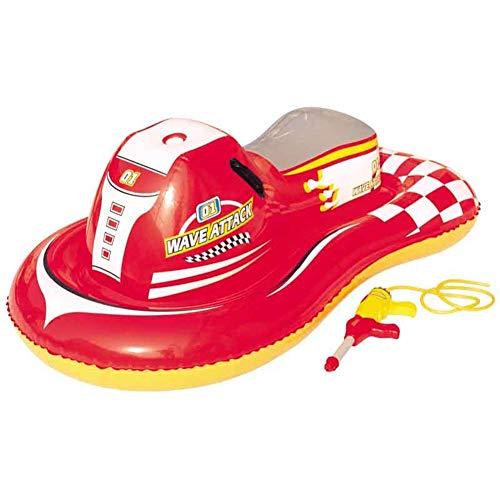 - Y&M Toddler Inflatable Motorboat Kids Swimming Float+Water Spray Gun