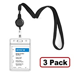 Key Features *Thick I'D Lanyard, Retractable Badge Holder and ID Badge Protector 3 in 1 Combination set. Save your time to chose badge holders and lanyards. *Fits Disney Cruise Line, Halloween, Carnival, Royal Caribbean, Norwegian, Celebrity ...