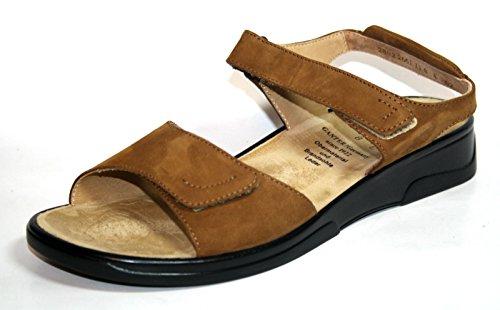 Ganter - Sandalias de vestir de cuero para mujer marrón - Braun (Whisky)