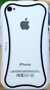 SANOXY® GLOW in the DARK PC + TPU Bumper Case Cover Side Clips for iPhone 5 5S (BLACK & WHITE)