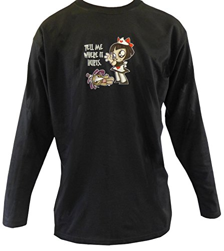 Size 22/24 Scary Miss Mary Black Long Sleeve Gothic Naugh...