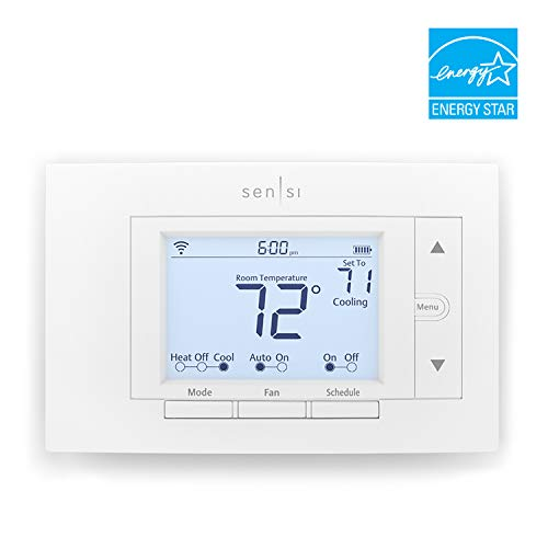 Emerson Sensi Wi-Fi Smart Thermostat for Smart Home, DIY Version, Works with Alexa, Energy Star Certified (Hvac Thermostat)