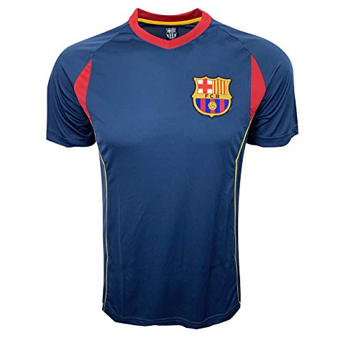 Barcelona Training Jersey, for Kids and Adults, Performance Polyester -Shirts (Youth X-Large 13-15 Years)