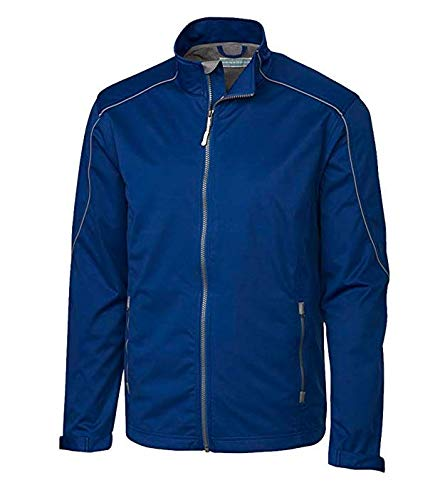 (Cutter & Buck Men's Weather Resistant, Midweight Softshell Opening Day Jacket, Tour Blue, XX-Large)