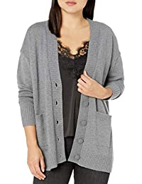 Women's Carrie Oversized Button Front Patch Pocket Cardigan Sweater
