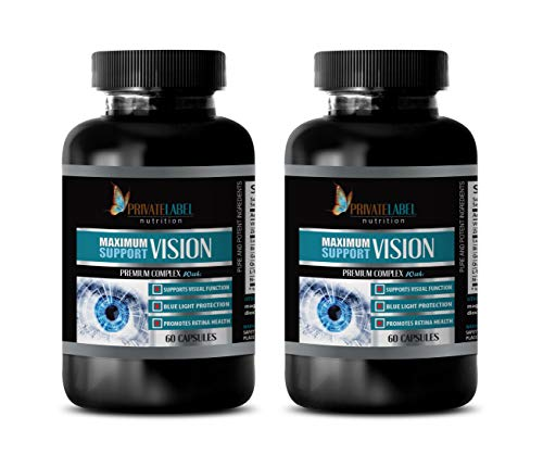 Vision Health Advanced Eye Supplement - Maximum Vision Support - Premium Complex - quercetin Complex - 2 Bottle 120 Capsules