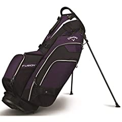 The Fusion 14 fuses the best of storage and a 14-way top of a cart bag in a light weight stand bag. It features 12 well thought out pockets, including a magnetic valuables and water bottle pocket, a quick access cell phone sleeve and quick re...