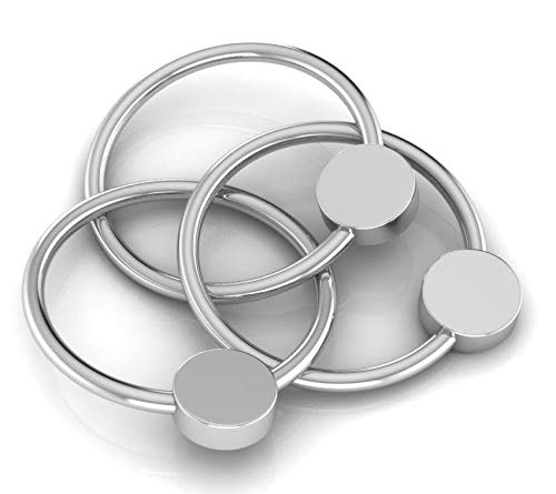 Krysaliis Baby Silver Plated 3 Ring Teether Rattle
