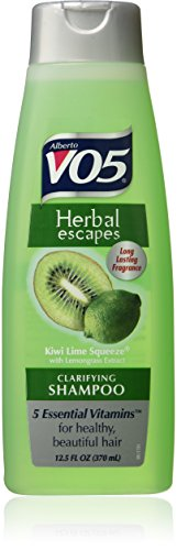 Alberto VO5 Herbal Escapes Kiwi Lime Squeeze Clarifying Shampoo for Unisex, 12.5 Ounce (Shampoo Herbal Lemongrass)