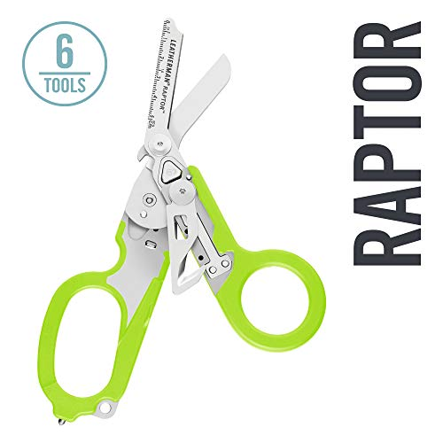 LEATHERMAN - Raptor Medical Shears with Strap Cutter and Glass Breaker, Green with Utility Holster