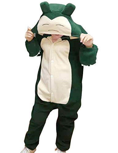 Adult Snorlax Onesies Pajamas Cosplay Animal Homewear Sleepwear Jumpsuit Costume Women Men