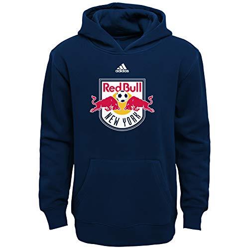 MLS New York Navy Bulls Boys 8-20 Primary Logo Fleece Hoodie, Navy, ()