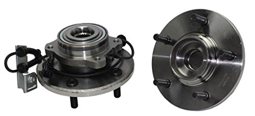 Detroit Axle Both (2) New Front Driver & Passenger Side Complete Wheel Hub & Bearing Assembly 2007-2008 Chrysler Pacifica With-ABS