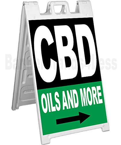 CBD Oils and More Signicade A-Frame Sidewalk Sign Pavement Sign kb