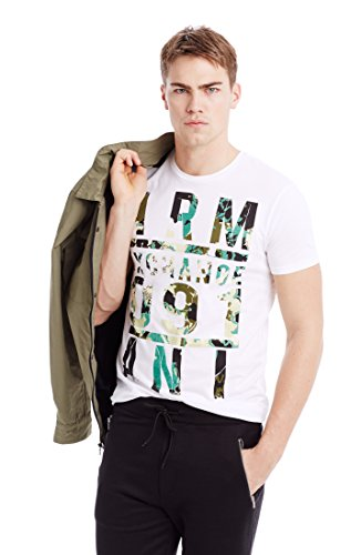 Armani Exchange Mens Floral Fill Tee