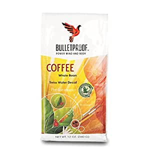 Bulletproof - The Original Whole Bean Decaf Coffee, Upgraded Coffee Upgrades Your Day (12 Ounces)