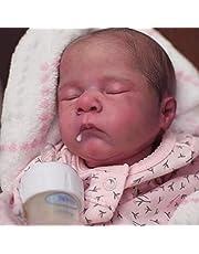 SHURROW 40 cm Reborns docksats omålad baby gör-det-själv docka med huvud full av lemmar och kroppshandduk realistisk docka vinyl tyg