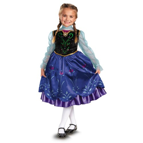 Disney's Frozen Anna Deluxe Girl's Costume, -