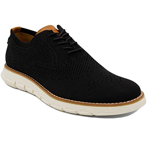 Nautica Men's Wingdeck Oxford Shoe Fashion Sneaker-Black Knit-8.5 -