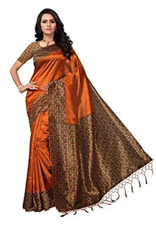 Muhenera Women's Mysore Silk Saree with Blouse Piece